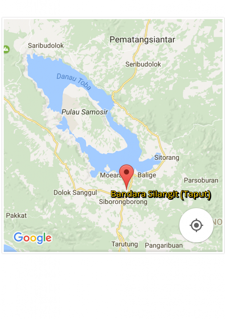 Lokasi Bandara Silangit di Kabupaten Tapanuli Utara